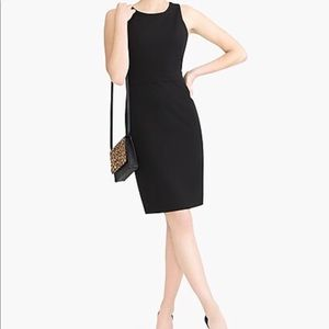 J CREW Black Sleeveless Over Knee Dress